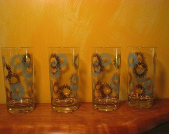 4 Vintage Drinking Glasses