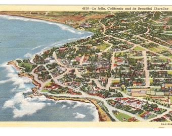 La Jolla California Vintage Postcard (unused)