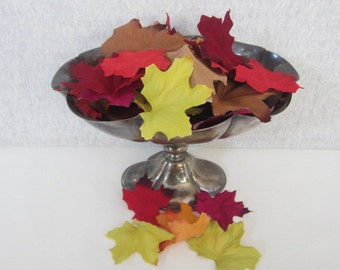 Flocked Fall Leaves Fall Decor Flocked Artificial Fall Leaves Autumn Leaves Flocked Maple Leaves