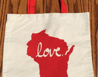 Wisconsin Love Tote