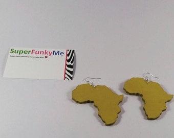 Gold Africa Earrings||African Earrings||Country Earrings||Country Jewelry||Africa||African Jewellery||Adinkra Jewellery||Earrings