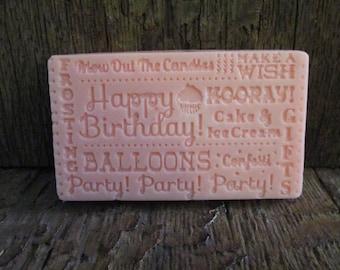 Birthday Greetings Shea Butter Soap Bar Gift 2.8 oz.