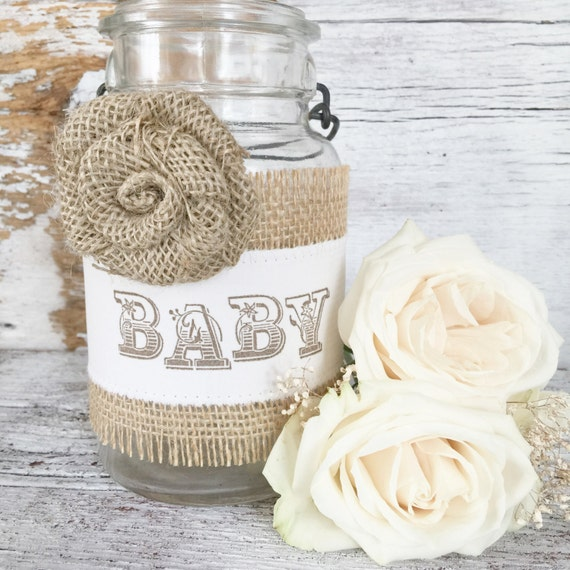Vintage baby shower decor for jars diy by