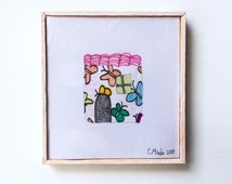 Miniature Drawing Framed
