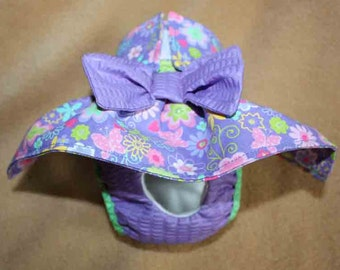Female Dog Diapers / dog pantie / britches / Waterproof / PURPLE FLORAL