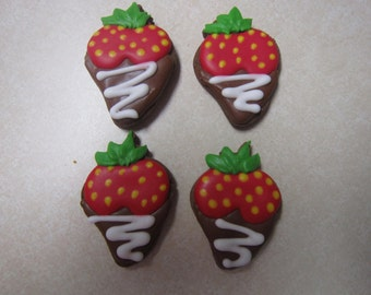12 Chocolate Dipped Strawberry Cookies