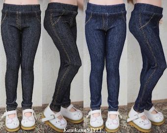 Kawkana - Great Leggings like Realistic Jeans, Pants for Iplehouse KID, Unoa Chibi, Clothes for other 35cm BJD