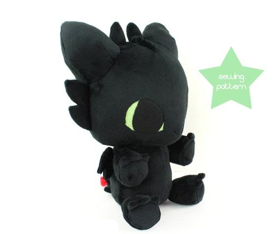 pdf sewing pattern baby dragon stuffed animal large kawaii