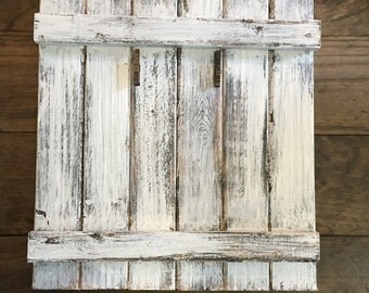 Rustic Wood Picture Display- Distressed Wood Frame