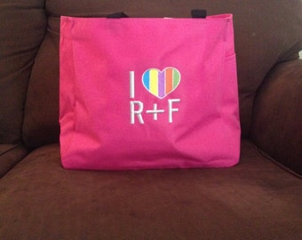 Pink Bag with R&F Embroidery