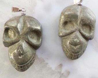 Pyrite Skull Pendant