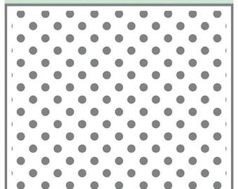 Echo Park Paper DOTS & STRIPES Polka Dots 6x6 Stencil - New!