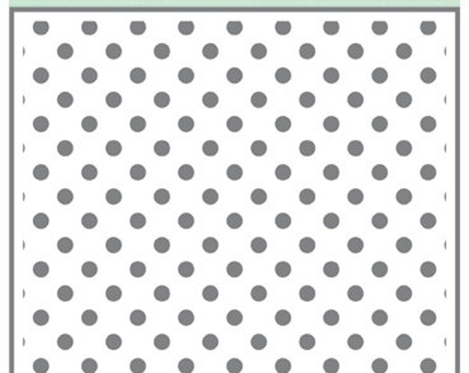 Echo Park Paper DOTS & STRIPES Polka Dots 6x6 Stencil - New!