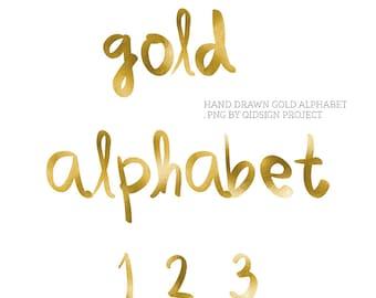 Gold AlphabetScrapbook Alphabet Digital Alphabet ABC Clipart