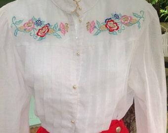 Vintage 80's Elizabeth My Dear blouse