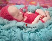 baby bonnet - newborn girl photo outfit - newborn girl photography outfit - flower romper - newborn baby - baby girl romper - knit set