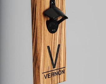 Magnetic Bottle Opener The Blue Liner By Woodeyeswoodworks