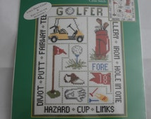 Unique Golf Cross Stitch Related Items Etsy