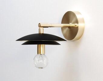 "Modern Wall Lamp - Modern Sconce - Modern Wall Light - Adjustable Light - Brass Sconce - Modern Brass Lamp - Bedside Reading Lamp - ""DUO"""