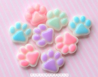 Cute Small Puppy Paw Cabochon