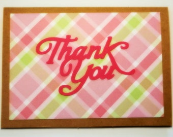 Thank you blank cards set of 4