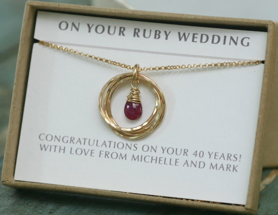 Gifts For Ruby Wedding Anniversary Ideas: Ruby Wedding Gift 40th Anniversary Gift Ruby Anniversary