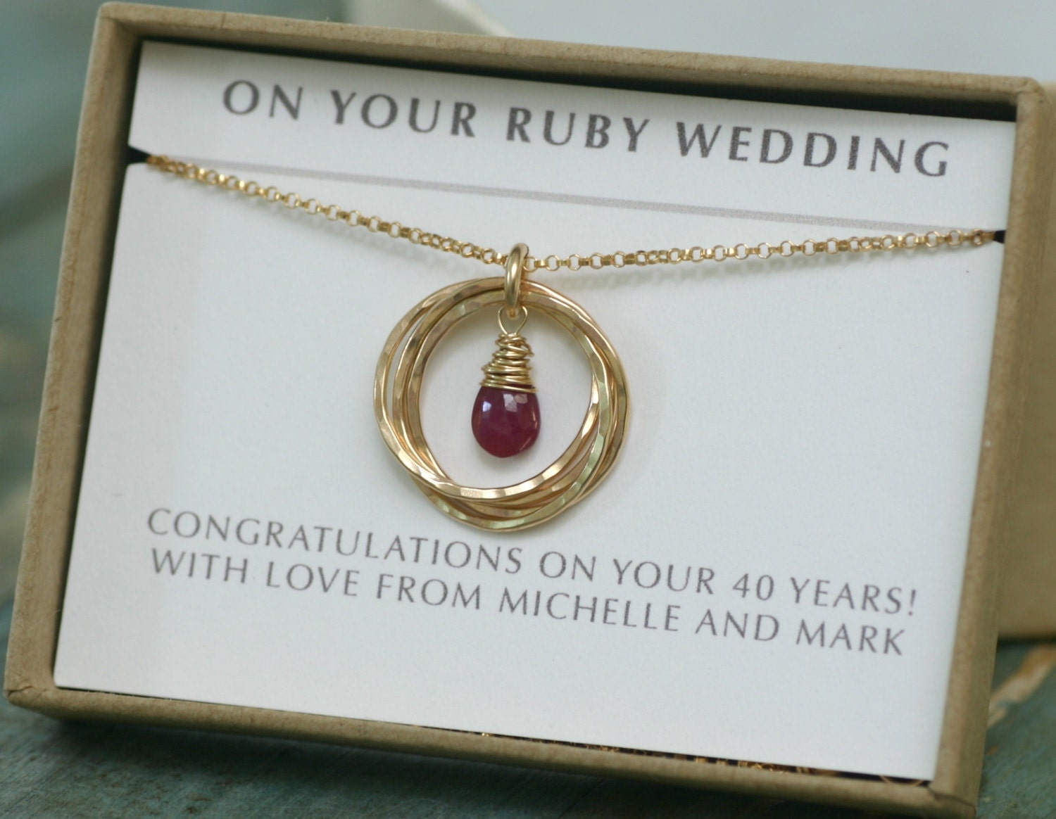 Ruby wedding gift th anniversary