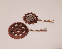 Set of Two Steampunk Hair Pins