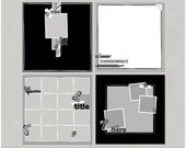 Sample Pack 12 - 12x12 Digital Scrapbooking Templates