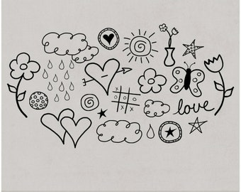 Doodley-Doo Set 1 - Digital Scrapbooking Doodles