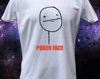 Poker Face Rage Face Rage Comic Meme T-Shirt