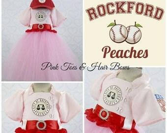 Rockford Peach tutu dress- Rockford peach costume- Rockford peach dress