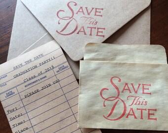 Library Card Invitations, Graduation Party Invitations-