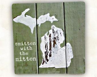 Smitten with the Mitten Sandstone Coaster