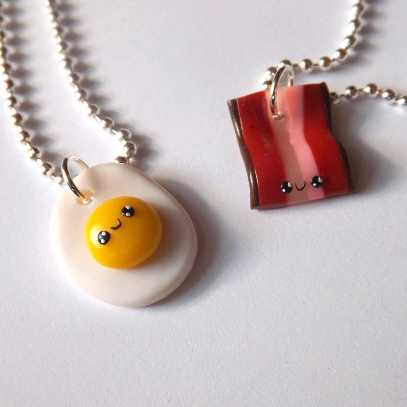 Popular Charm Bracelets 2: Best Friend Necklaces Bacon And Egg Friends Friendship