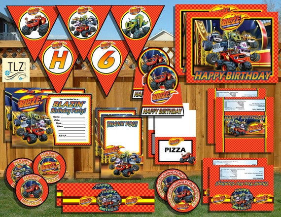 Blaze & The Monster Machines Birthday Package By TLZDesigns