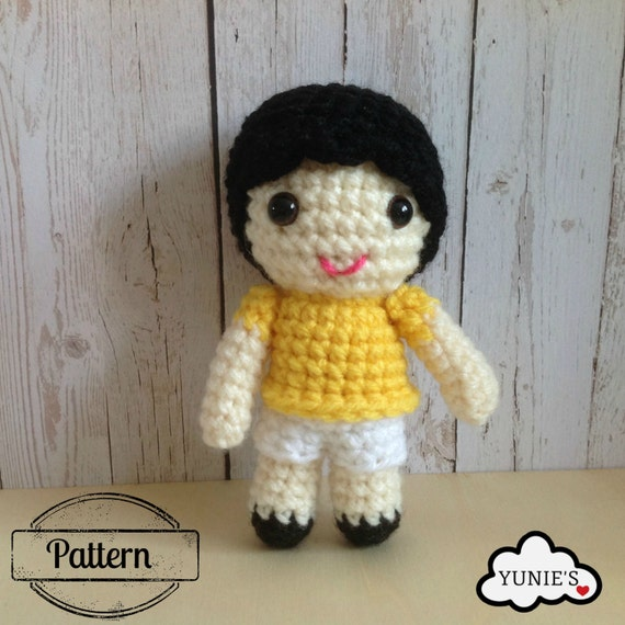 Crochet pattern doll: Boy Doll Crochet Pattern Amigurumi
