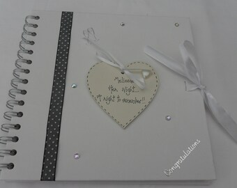 Personalised Hen Night/Do/Weekend Memory/Guest Book Scrap book Photo Album   Handcrafted