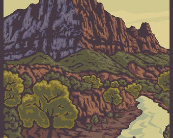 The Watchman - Zion National Park (Art Prints available in multiple sizes)