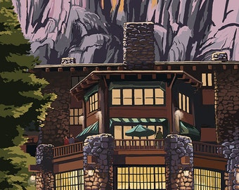 The Ahwahnee - Yosemite National Park - California (Art Prints available in multiple sizes)