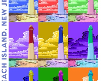 Barnegat Lighthouse, New Jersey Shore (Art Prints available in multiple sizes)