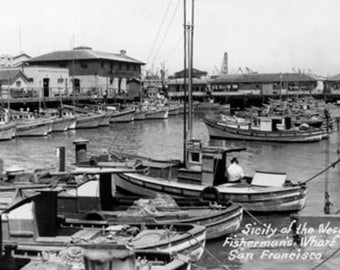 San Francisco, CA Fisherman's Wharf Scene Photograph (Art Prints available in multiple sizes)