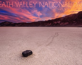 Death Valley National Park - Racetrack at Sunset (Art Prints available in multiple sizes)