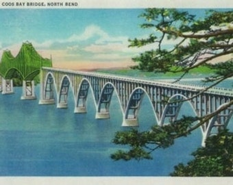 Coos Bay Bridge in North Bend, Oregon (Art Prints available in multiple sizes)