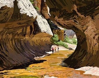 Zion National Park - The Subway (Art Prints available in multiple sizes)
