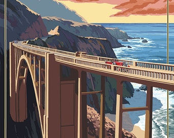 Bixby Bridge - California Coast (Art Prints available in multiple sizes)