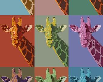 Giraffe Pop Art Etsy
