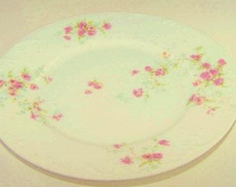 """Vintage Theodore Haviland Limoges """"Pink Floral"""" Plate"""