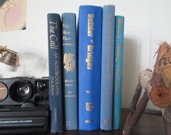 Vintage books Blue set