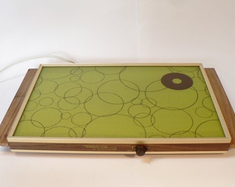 Sale: Cornwall Atomic Green warming tray, mid century warming tray, mid century modern heating tray, Mid Century Atomic